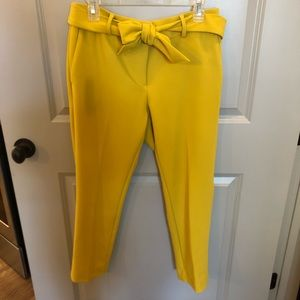 Mustard/yellow straight slacks